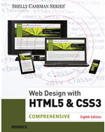 Web Design with HTML & CSS3: Comprehensive 8th by Jessica Minnick