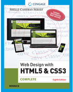 Web Design with HTML & CSS3: Complete 8th by Jessica Minnick