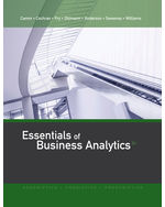 MindTap for Essentials of Business Analytics 2nd by Jeffrey D. Camm | James J. Cochran | Michael J. Fry | Jeffrey W. Ohlmann | David R. Anderson | Dennis J. Sweeney | Thomas A. Williams