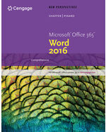 1st Edition New Perspectives MicrosoftR Office 365 Word 2016 Introductory