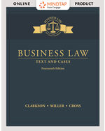 MindTap for Business Law: Text and Cases 14th by Kenneth W. Clarkson | Roger Miller | Frank B. Cross