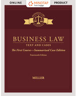 MindTap for Business Law: Text & Cases - The First Course - Summarized Case Edition 14th by Roger Miller