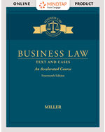 MindTap for Business Law: Text & Cases - An Accelerated Course 14th by Roger Miller