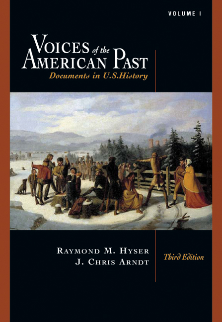 Voices of the american past 9780495102878 cengage voices of the american past fandeluxe Image collections