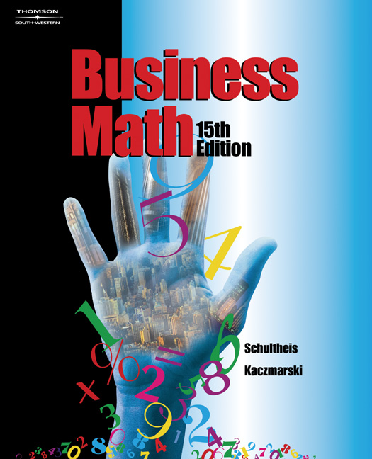 Business math 9780538432535 cengage fandeluxe Gallery