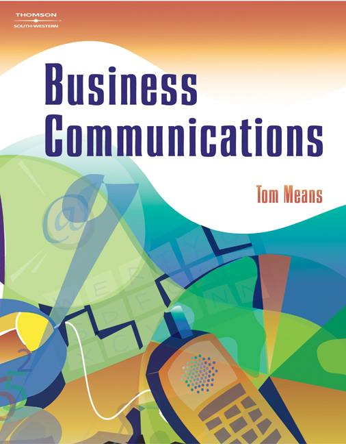 Business Communication Book Cover ~ Business communications  cengage
