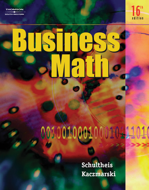 Business math 9780538440523 cengage business math fandeluxe Gallery