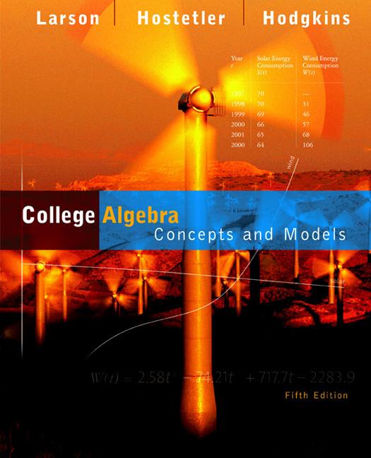 College Algebra - 9780618492817 - Cengage