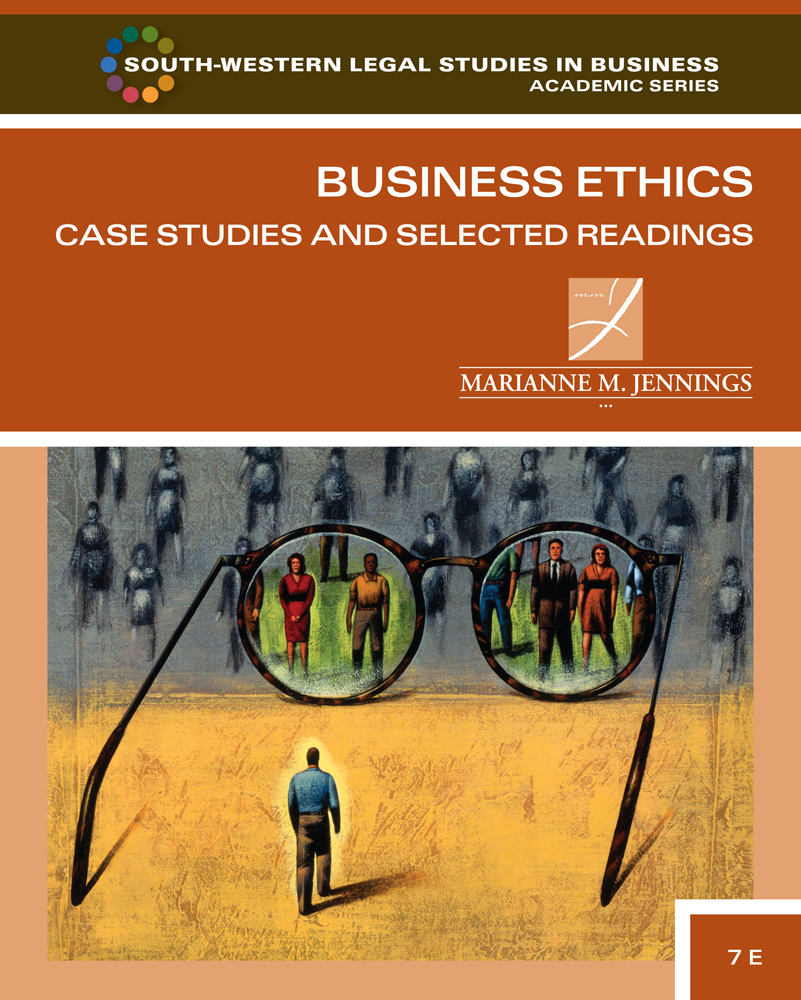 business ethics case studies and selected readings by marianne jennings