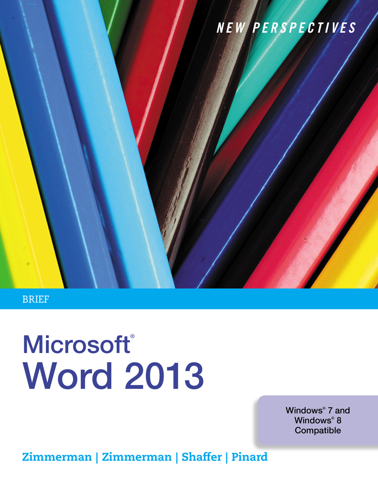 New Perspectives On Microsoft Word 2013 Brief 9781285091174