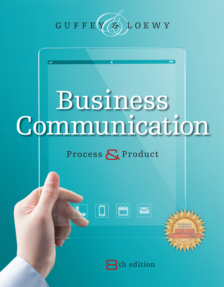 Business Communication Book Cover ~ Business communication  cengage