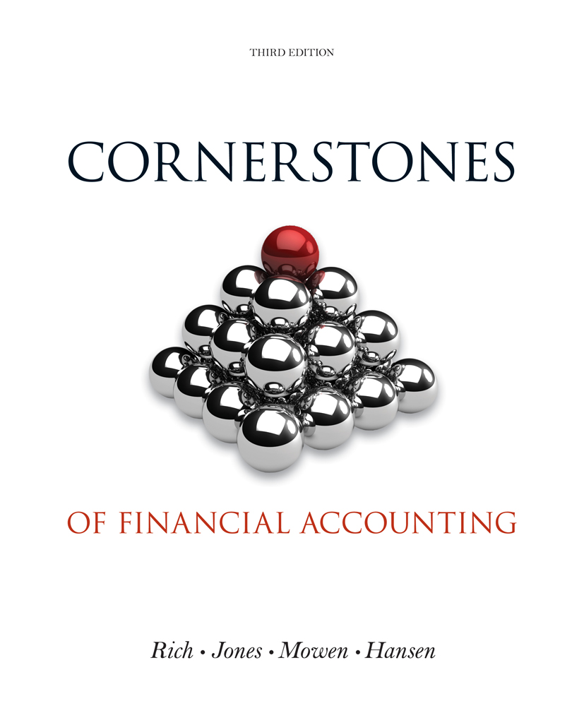 eBook: Cornerstones of Financial Accounting