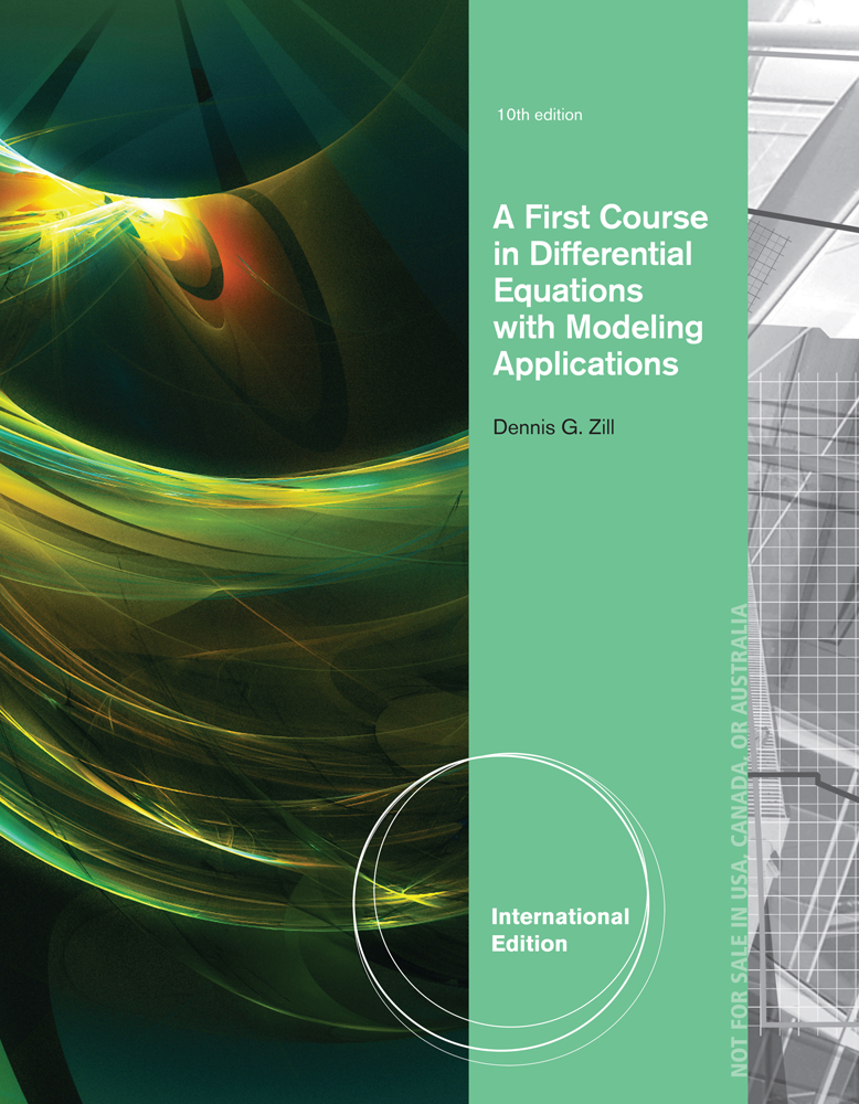 eBook: A First Course in Differential Equations with Modeling Applications, International Edition