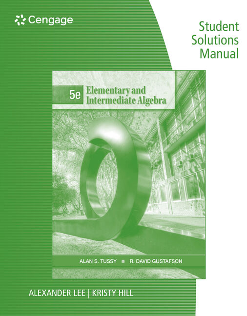 eBook Student Solutions Manual: Elementary and Intermediate Algebra