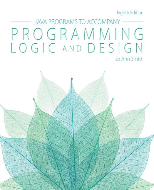 Java™ Programs for Programming Logic and Design