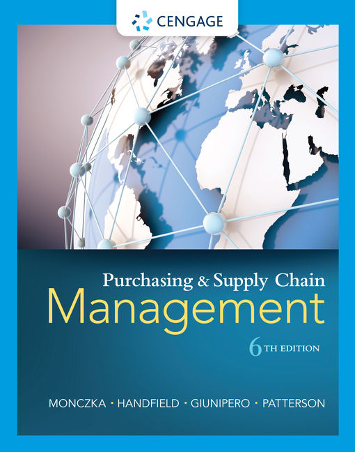 Purchasing And Supply Chain Management 9781285869681 Cengage