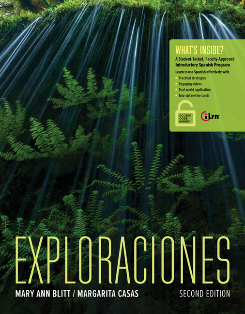 Spanish Introductory Exploraciones With ILrnTM Heinle Learning Center 4 Terms 24 Months Printed