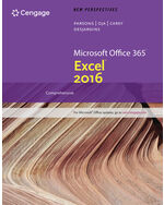 New Perspectives MicrosoftR Office 365 Excel 2016 Intermediate 1st Edition