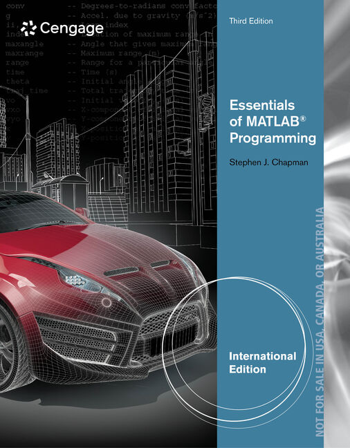 Essentials of MATLAB® Programming, International Edition