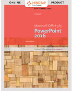 EPack New Perspectives MicrosoftR Office 365 PowerPoint 2016 Intermediate MindTap Computing 1 Term 6 Months Instant Access For Pinards