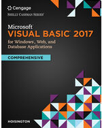 Microsoft Visual Basic 2017 For Windows Web And Database Applications Comprehensive