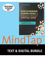 Bundle Shelly Cashman SeriesR Discovering Computers MicrosoftR Office 365 2016 A Fundamental Combined Approach LMS Integrated MindTap