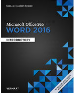 Shelly Cashman SeriesR MicrosoftR Office 365 Word 2016 Introductory Loose Leaf Version 1st Edition