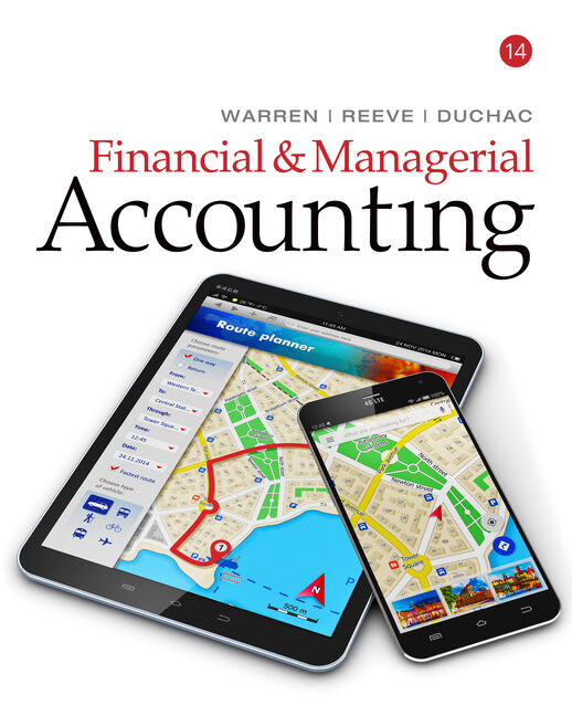 Working Papers, Volume 2, Chapters 15-26 for Warren/Reeve/Duchac's Financial & Managerial Accounting, 14E