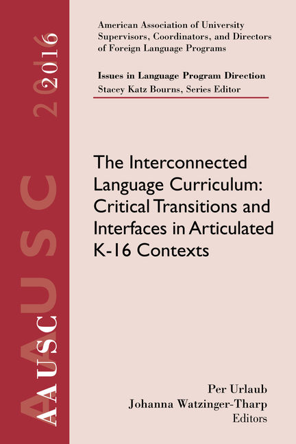 AAUSC 2016 Volume - Issues in Language Program Direction
