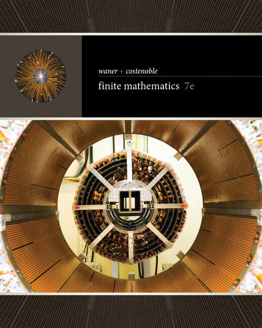 Student Solutions Manual for  Waner/Costenoble's Finite Mathematics, 7th
