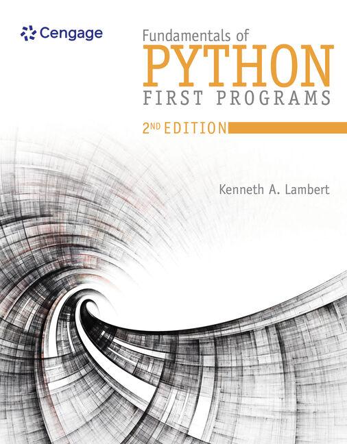 Fundamentals of Python - 9781337560092 - Cengage