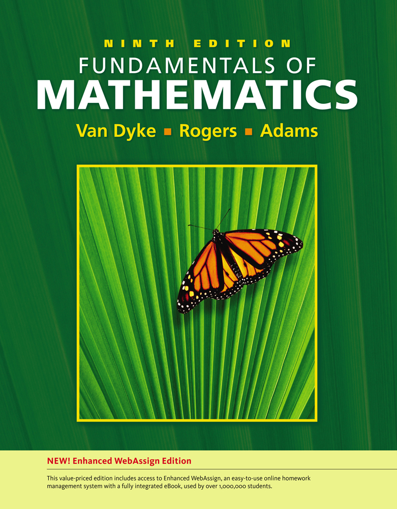 Fundamentals of Mathematics, Edition (with WebAssign Printed Access Card, Single-Term)