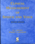 clinical speech and voice measurements 9781879105911