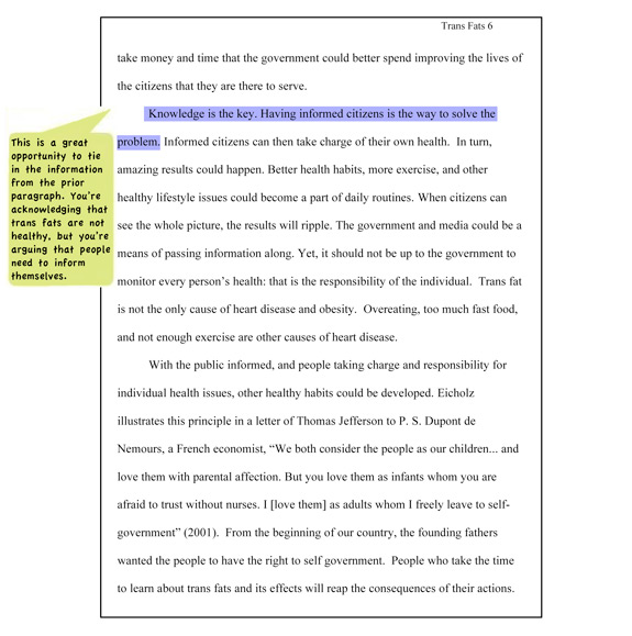 Illustrative Essay Ideas Dustin Young Wrote The Following Essay In Response To The Assignment In  Research In Progress  His Paper On Trans Fats Is Formatted Using Cse  Style Essay On Happiness also Sample College Essays Sampleripcseyoungpjpg Essay Problem Solution Topics