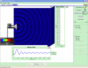 PhET Wave Interference - Electric field, Interference, Diffraction