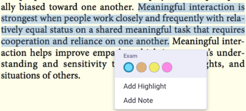 Frequently asked questions about cengagebrain it is possible to choose which highlighter you would like to use here by selecting the appropriate colored dot you can also add a note to your highlight fandeluxe Images