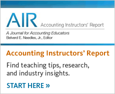 Access the Accounting Instructor's Report for teaching tips, research and industry insights.