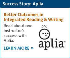 Read about one Developmental English instructor's success with Aplia.