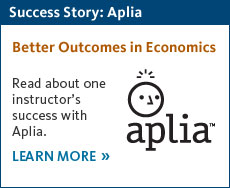 Read about one Economics instructor's success with Aplia.