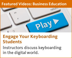 Instructors discuss keyboarding in the digital world. Watch our videos now.