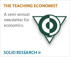 Read our semi annual newsletter for Economics.