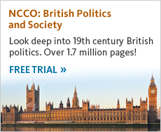 Look deep into 19th century British politics. Over 1.7 million pages! Get free trial now.