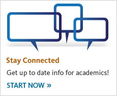 Stay connected. Get up to date info for academics! Start now.