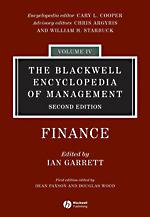 Blackwell Encyclopedia of Management: Vol. 4: Finance