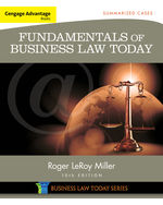 MindTap® Business Law, 2 terms (12 months) Instant Access for Miller's Cengage Advantage Books: Fundamentals of Business Law Today: Summarized Cases