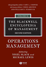 Blackwell Encyclopedia of Management: Vol. 10: Operations Management