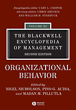 Blackwell Encyclopedia of Management: Vol. 11: Organizational Behavior