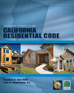 Significant Changes to the California Residential Code, 2013