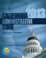 2013 California Administrative Code, Title 24 Part 1