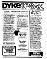 Politics, Social Activism, and Community Support: Selected Gay and Lesbian Periodicals and Newsletters
